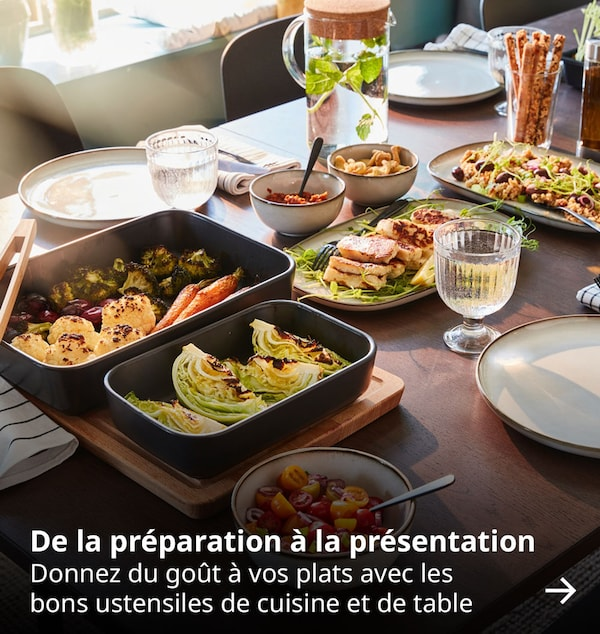 De la préparation à la présentation. Donnez du goût à vos plats avec les bons ustensiles de cuisine et de table