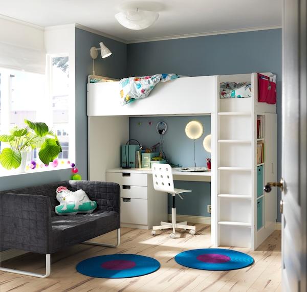 Decoración de dormitorios infantiles con poco espacio