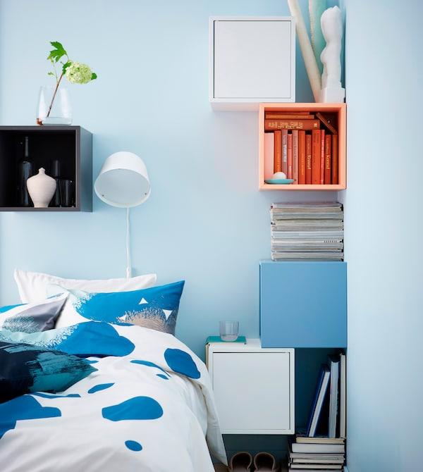 Decoración de dormitorios modernos con un toque de color