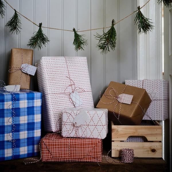 Decoración navideña DIY casera y regalos de Navidad.