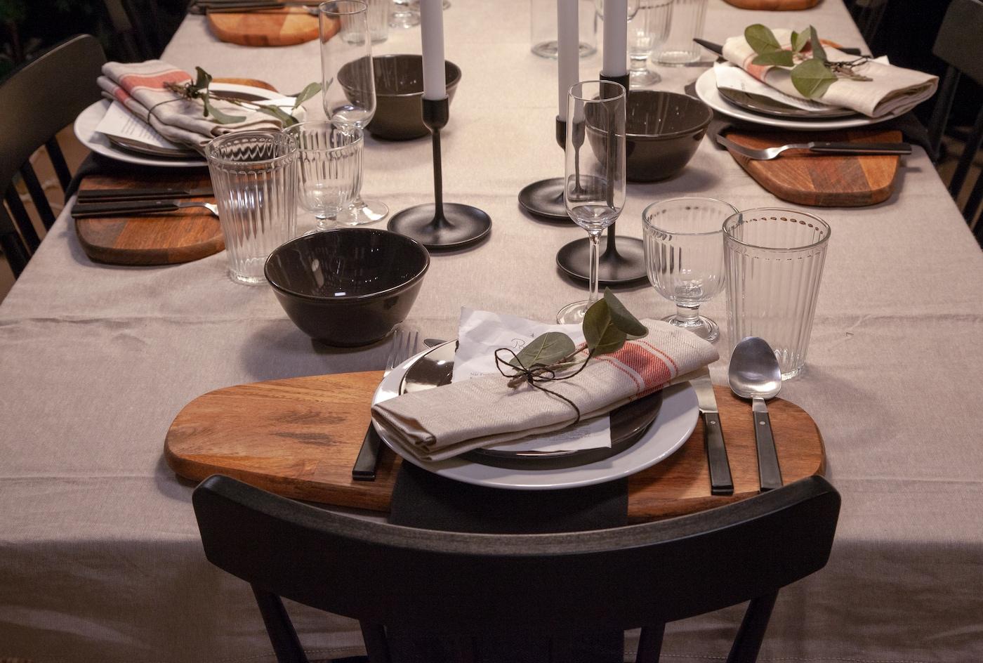 Decorar mesa de Navidad