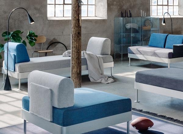 DELAKTIG modulare sofe