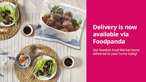 Delivery is now available via Foodpanda