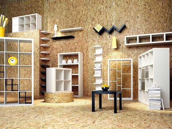 Des meubles variés IKEA dans une piéce