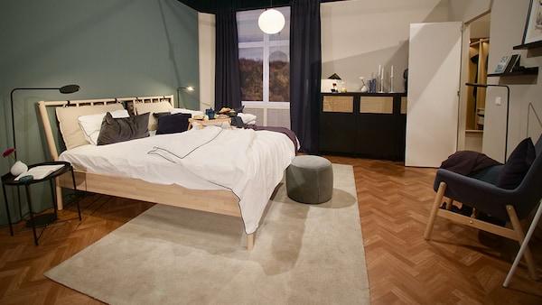 DESIGN DREAM Frontalsicht des Schlafzimmerdesigns