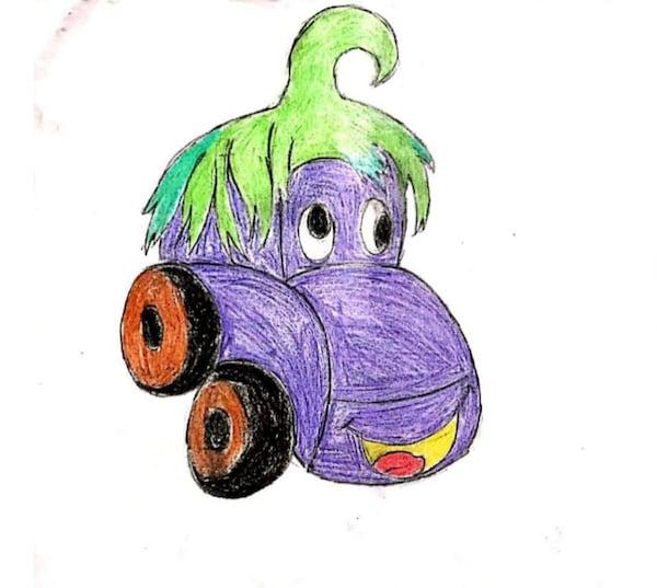 Dessin Eggplant Monster Car