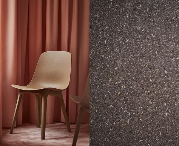 Det som er så fint med kompositt, er at det både gir lavere materialforbruk og lar oss utnytte materialer av dårligere kvalitet – eller avfall, om du vil – til å lage nye, flotte produkter, som ODGER stol.