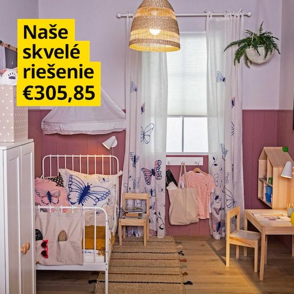 Detská izba, ktorá bude rásť spolu s vašou dcérou.