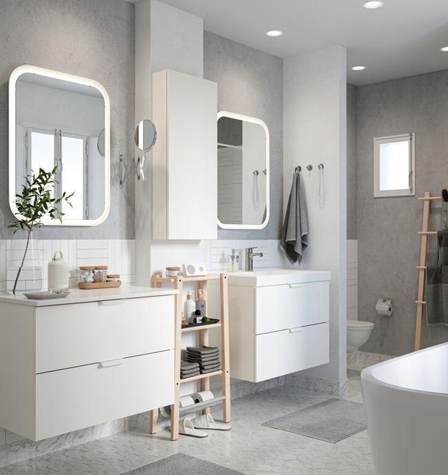 Meubles pour la salle de bain vanit s et armoires ikea ca - Luminaire pour salle de bain ikea ...