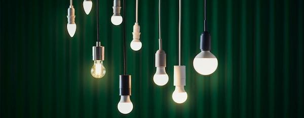 Die IKEA SOLHETTA LED-Glühbirnen sparen Energie.