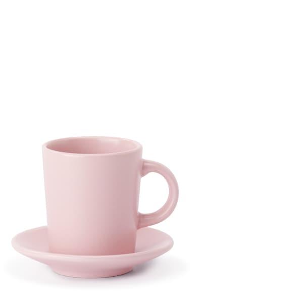 DINERA šálek na espreso s podšálkem, světle růžová, 9 cl.