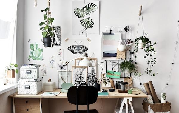 Idee per personalizzare il tuo spazio di lavoro ikea for Ikea stampe parete