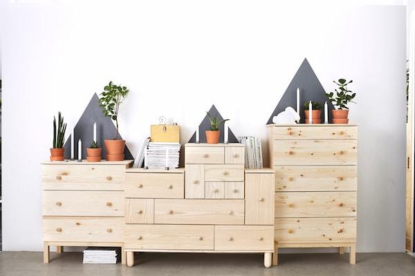 Display of IKEA furniture