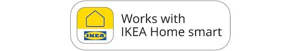 Distintivo funciona com a aplicação IKEA Home smart.