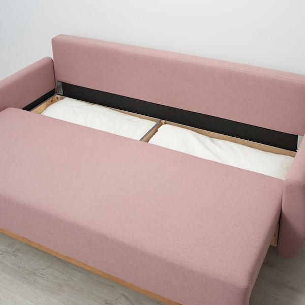 Диван-кровать Груннарп розовый 1