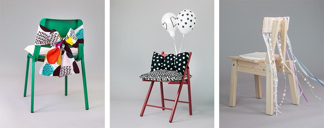 DIY Dekoration für Stühle zur Hochzeit