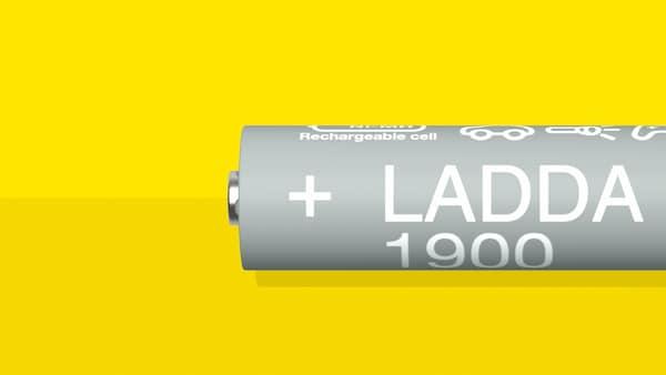 دليل لبطاريات LADDA القابلة لإعادة الشحن وشواحن البطاريات والاستدامة.