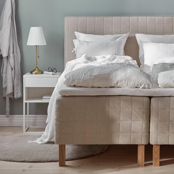 دليل يحتوي على نصائح حول أسرة المراتب ذات نوابضبقاعدة خشبيةلمساعدتك في اختيار أفضل سرير لك.