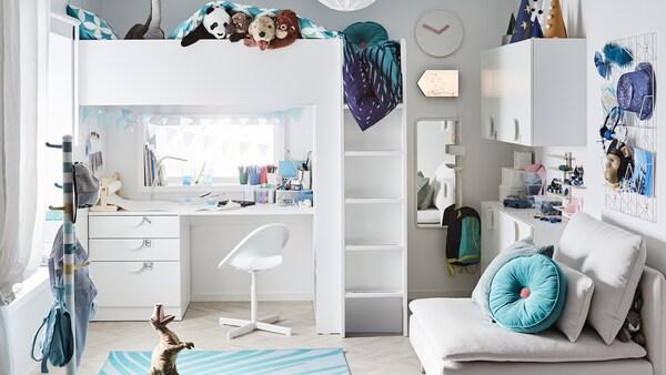 子ども用ベッドルーム家具のアイデアなどがいっぱいの、インスピレーションあふれるベビー&子ども部屋のギャラリー。