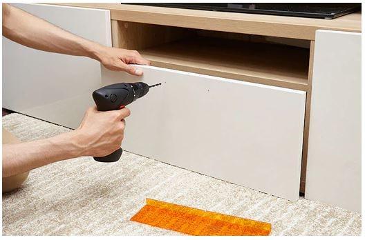 ドリルテンプレートを使用した取っ手の取り付け方