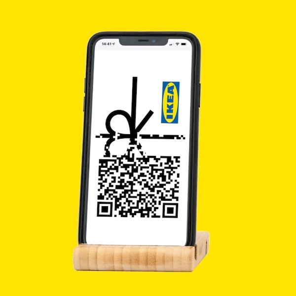 Držák mobilního telefonu/ tabletu BERGENES, bambusový.
