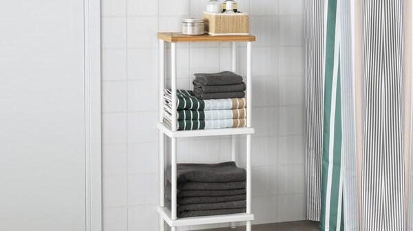 DYNAN scaffale, bianco, effetto bambù - IKEA