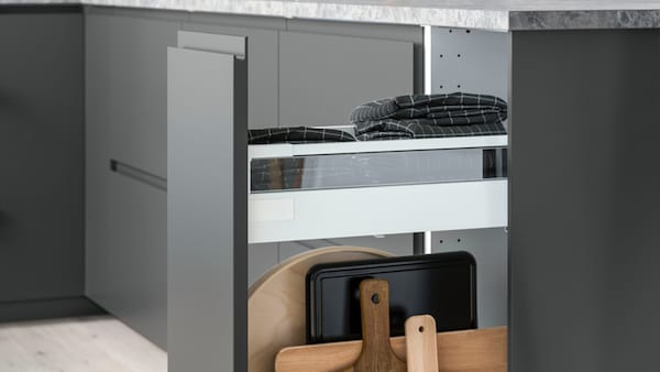 VOXTORP tiroirs de cuisine sans poignées IKEA