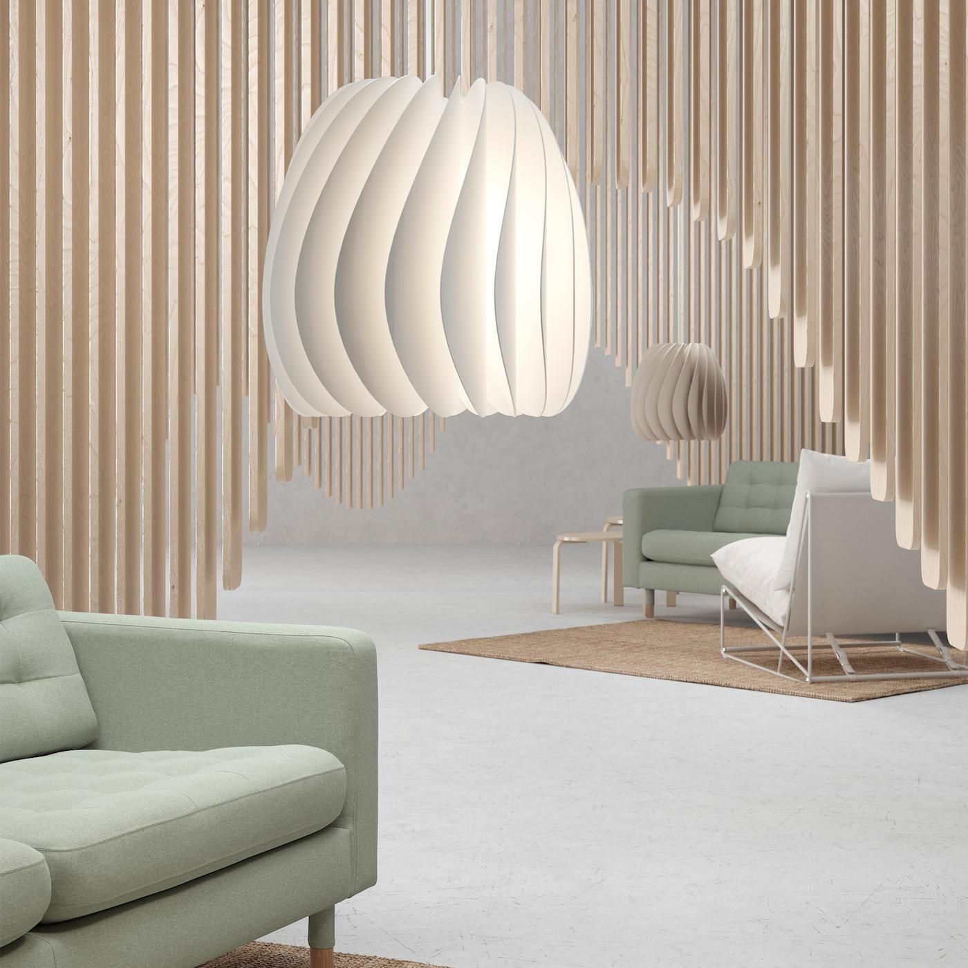 Suspension Skymningen Blanc Design Scandinave
