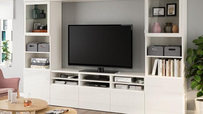 Living room storage system & Living room Storage - Bookcases Wall Shelves \u0026 More - IKEA