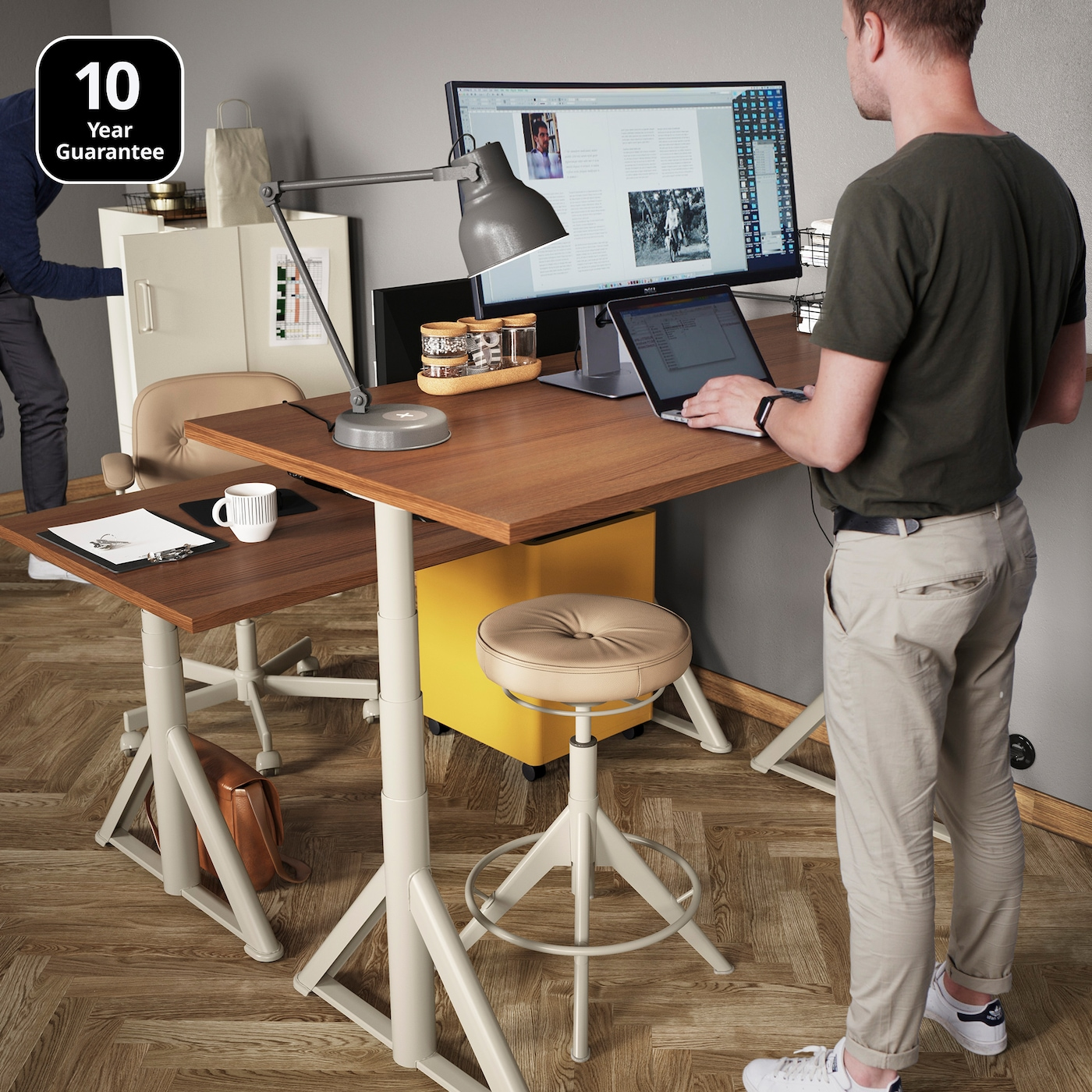 Easily Change Between Sitting And Standing With IDÅSEN Desk From IKEA. It  Adds A Traditional