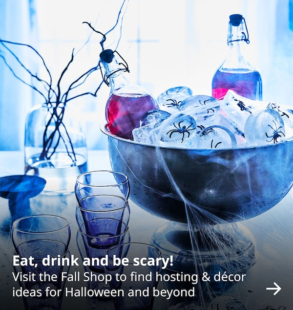 Eat, drink, and be scary! Visit the Fall Shop to find hosting & decor ideas for Halloween and beyond.