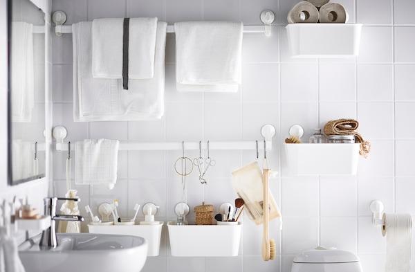 Badhalterungen ohne Bohren: Alles an der Wand - IKEA Deutschland