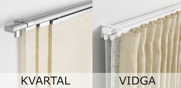 Kvartal Wurde Zu Vidga Aufhangesystem Fur Gardinen Ikea Deutschland
