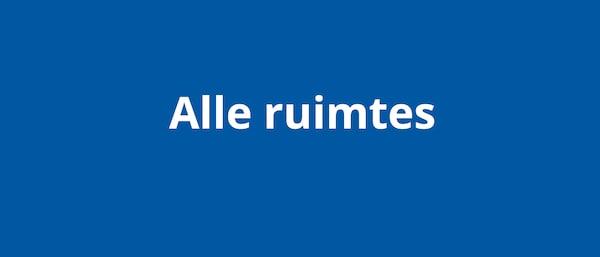 Een blauw vlak met de tekst 'alle ruimtes'
