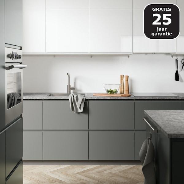 Een grijze METOD keuken