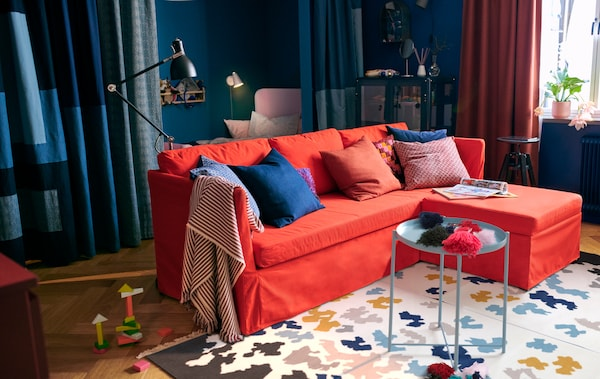 Blauwe Ikea Slaapbank.Maximaliseer Jouw Ruimte En Richt Een Stijlvolle Studio In Ikea