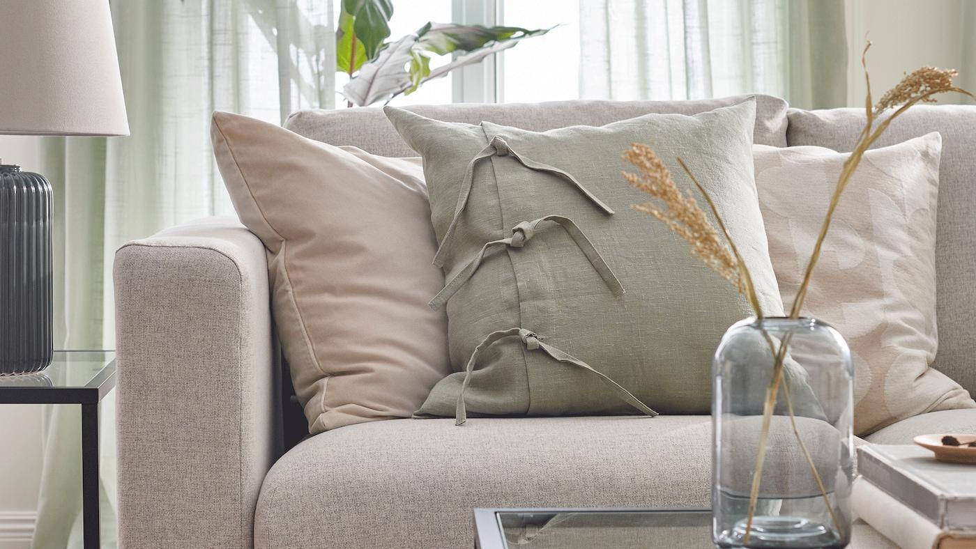 Een lichte, luchtige woonkamer