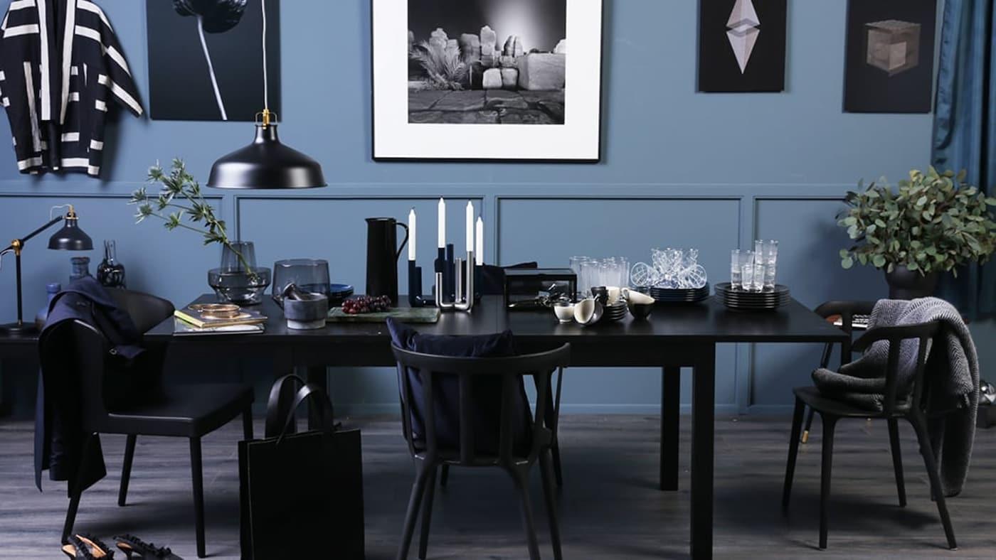 Eettafel in de stijl Nordic Chic