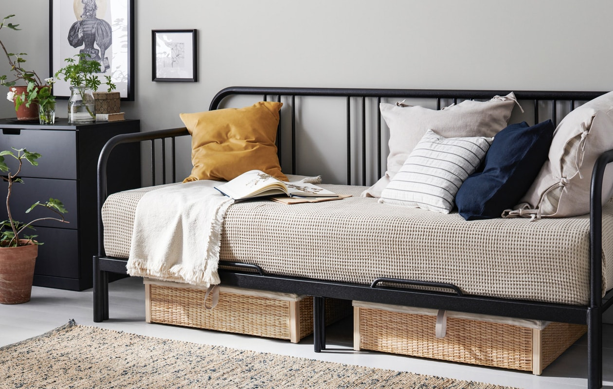 IKEA FYRESDAL day bed metal black