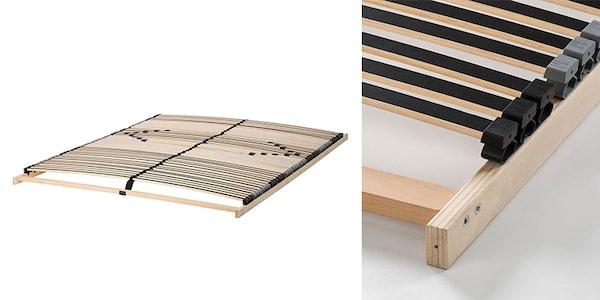 EIDSFOSS Federholzrahmen mit 42 schichtverleimten Federhölzern, eingeteilt in 5 Komfortzonen