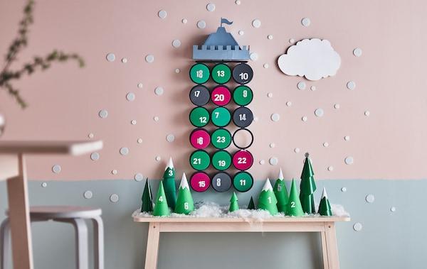 Weihnachtskalender Für Kinder Basteln.Adventskalender Für Kinder Basteln Ikea