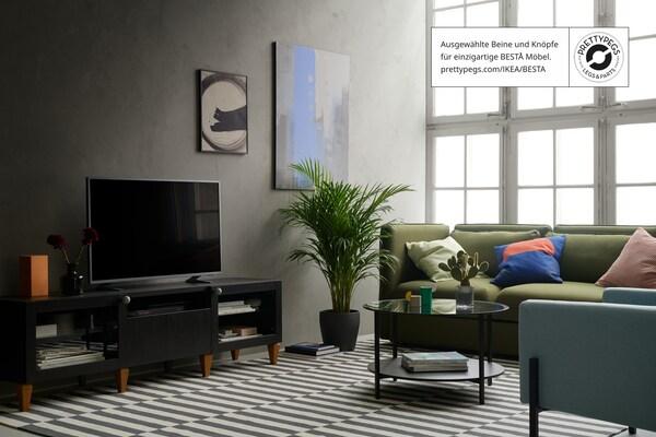 Dein BESTÅ individuell mit Knöpfen & Beinen gestalten - IKEA