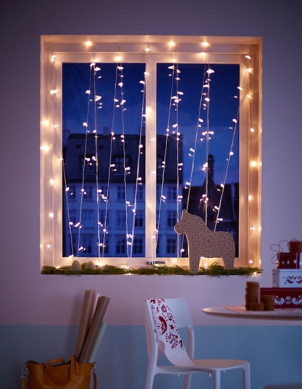 Led Weihnachtsbeleuchtung Für Fenster.Weihnachtsbeleuchtung Fenster Ganz Festlich Ikea
