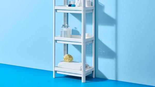 Ein IKEA VESKEN Regal für Küche oder Badezimmer