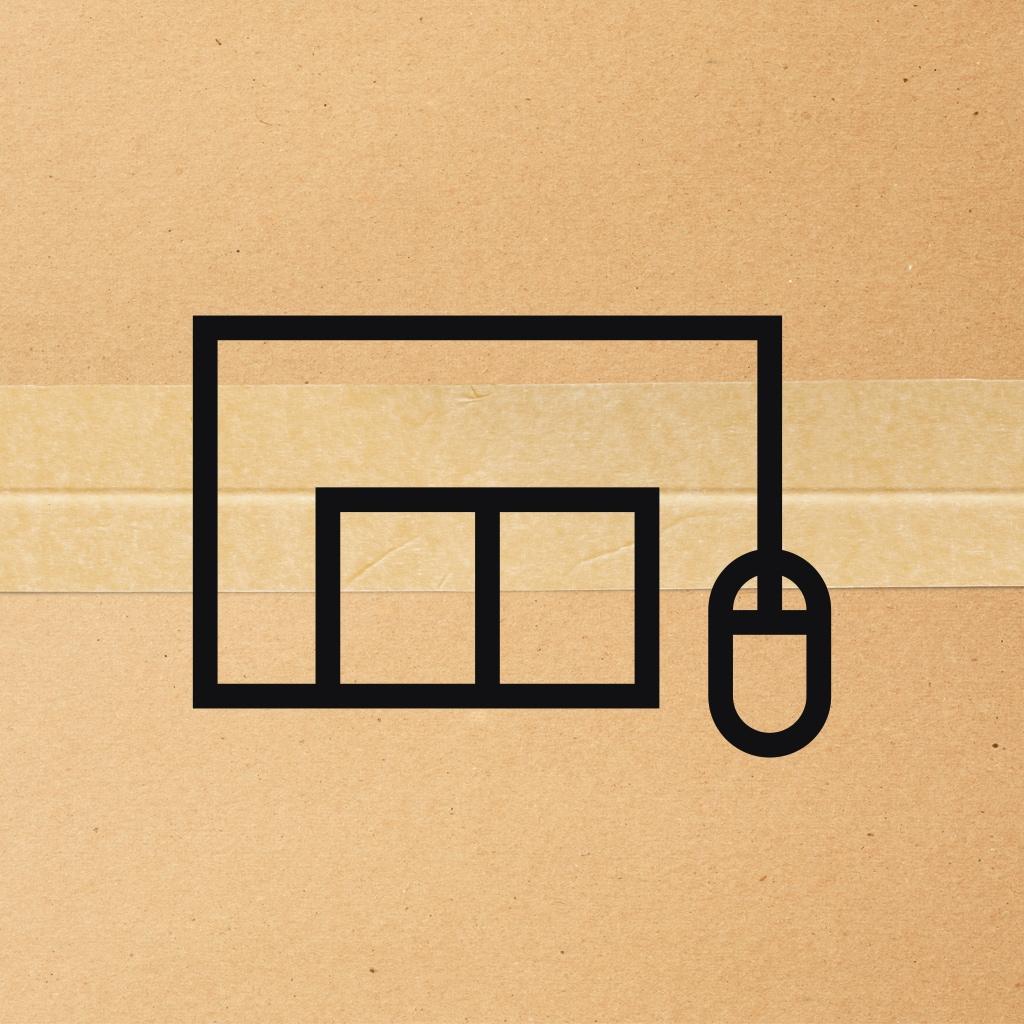 Ein Paket mit einem Click und Collect Icon