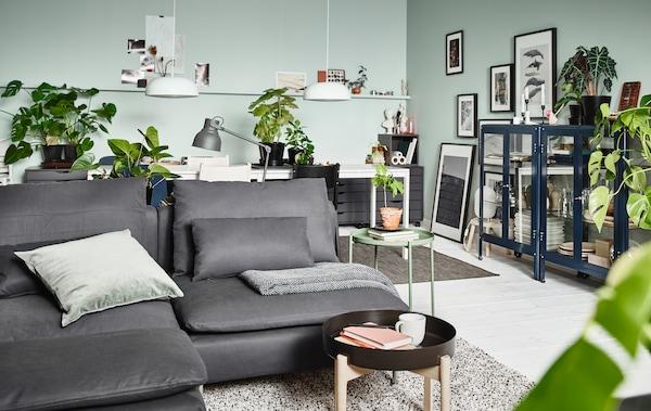 wohnzimmer im skandinavischen stil ikea ikea. Black Bedroom Furniture Sets. Home Design Ideas