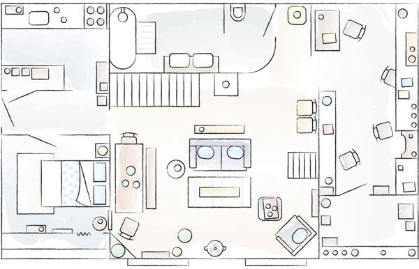Ein Wohn-und Arbeitsplatz für drei