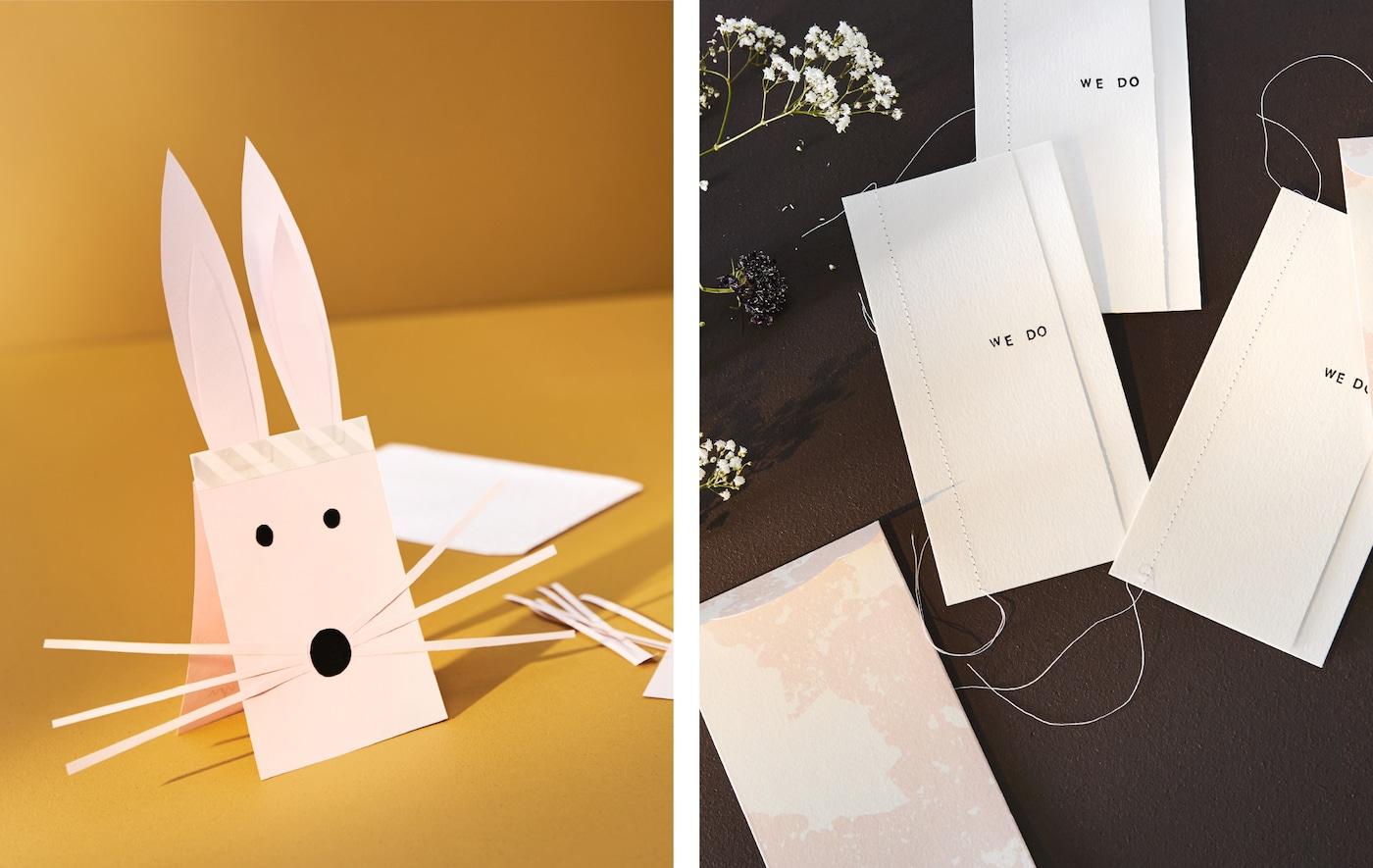 Eine Collage einzigartiger Einladungen