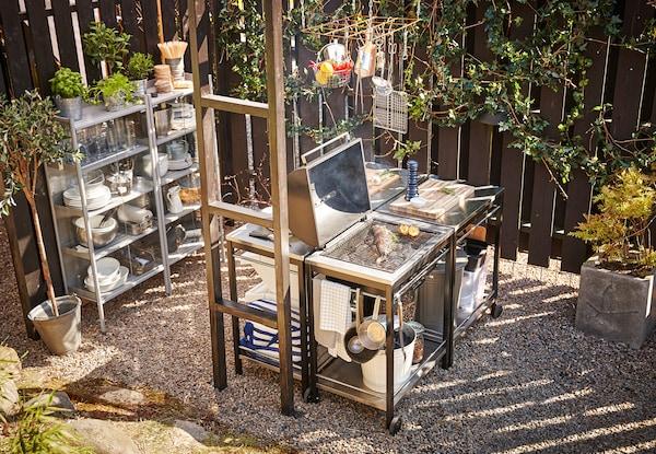 Outdoor Küche Edelstahl Zubehör : Outdoor küche: kochen im freien ikea