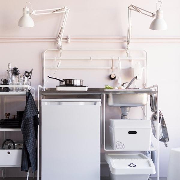 Eine Küche, die sich leicht installieren und auch einpacken lässt